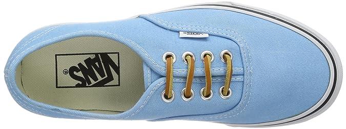 Vans U AUTHENTIC (BRUSHED TWILL), Baskets mode pour homme Multicolore bigarré - Bleu clair - Light Blue - Hellblau ((Brushed Twill)), 40 EU