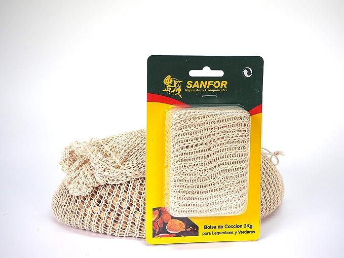 Sanfor 10148 Bolsa Cocción Legumbres, Marrón: Amazon.es ...