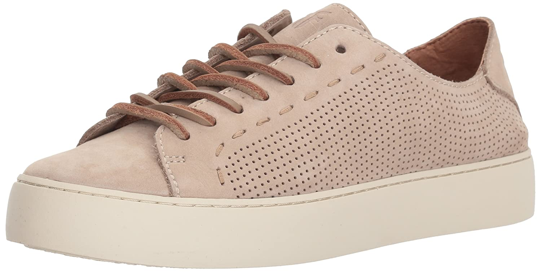 FRYE Women's Lena Perf Low Lace Sneaker B074QTYDWD 5.5 B(M) US|Taupe
