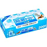 防臭ポリ袋 ペット用 200枚入 ブルー Sサイズ [Amazon限定ブランド]