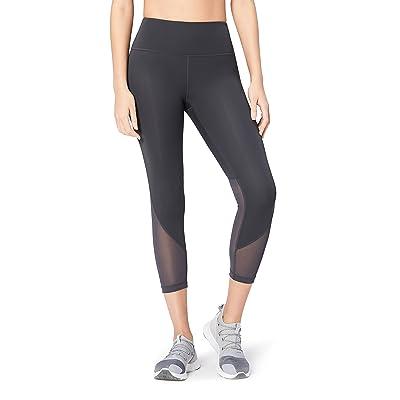 "Brand - Core 10 Women's (XS-3X) 'Race Day' High Waist Run Mesh 7/8 Crop Legging - 24"": Clothing"