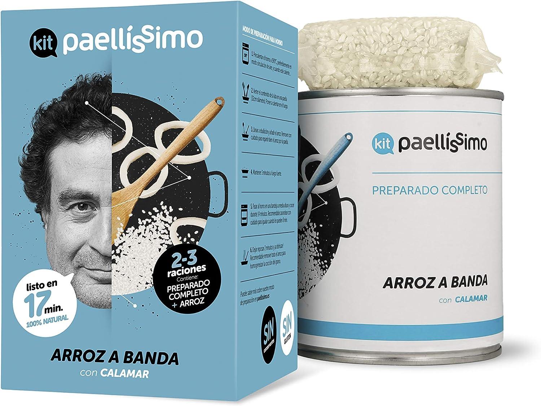 Paellíssimo - Kit para Arroz a Banda | 100% Natural y Sin Gluten | Creación Propia de Comida Preparada por Chef con Estrella Michelin