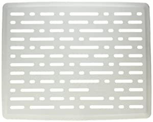 Rubbermaid 1G1606WHT Large White Twin Sink Mat