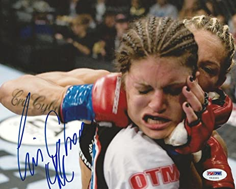 Cris Cyborg vs Gina Carano Signed StrikeForce 8x10 Photo COA ...