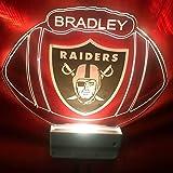 Amazon.com: Oakland Raiders nfl Light Up Lámpara De Luz ...