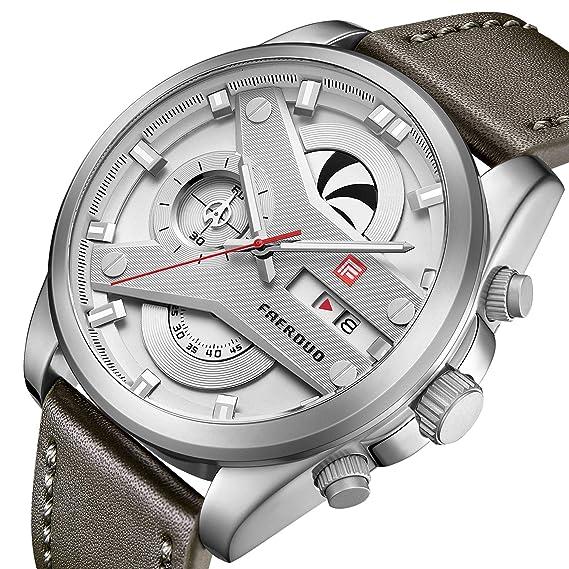 Reloj Pulsera Faerduo Para ModaEstilo HombreCronógrafo De 54RLjA