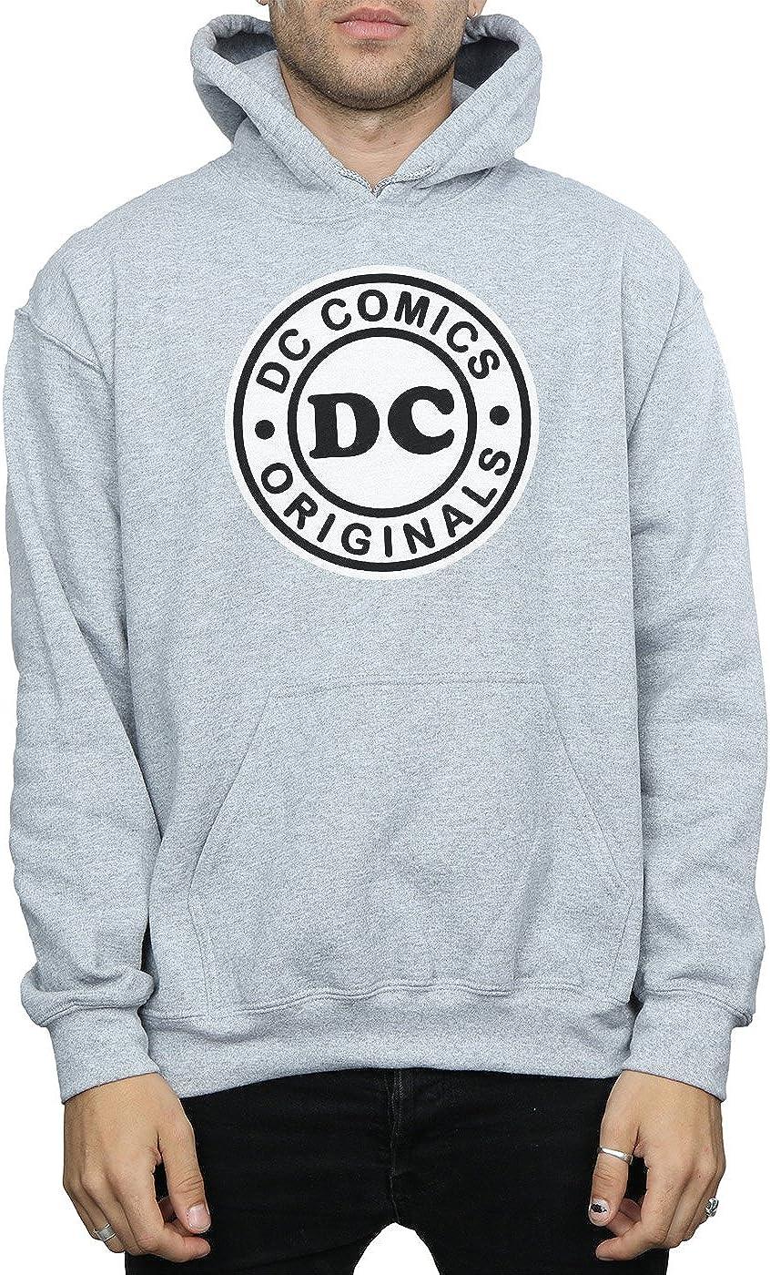 DC Comics Herren DCC Originals Logo Kapuzenpullover Sport Grey
