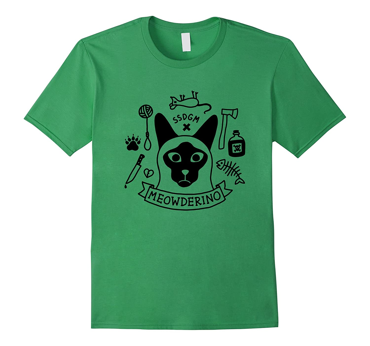 Womens Murderino Shirt Meowderino Large-Tovacu