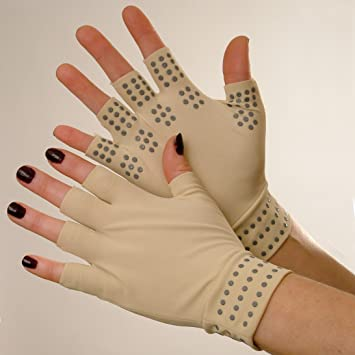 e834d2d27b Pair of Fingerless Magnetic Joint Gloves For Pain Relief and Soothing  Arthrit...: Amazon.co.uk: Health & Personal Care