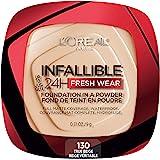L'Oreal Paris Infallible Fresh Wear Foundation in a Powder, Up to 24H Wear, True Beige, 0.31 oz.