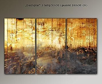 Gerahmte Bilder Wohnzimmer ~ Amazon teiliges wandbild london decrypter cm bilder