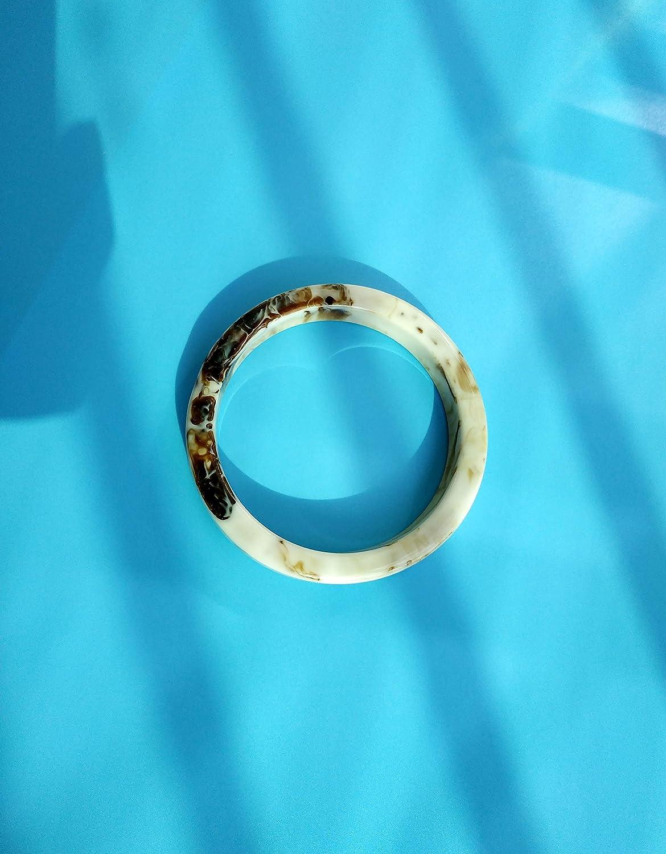Pop Dazzle Acrylic Bangle Bracelet for Women Fashion Unique Jewelry for Women