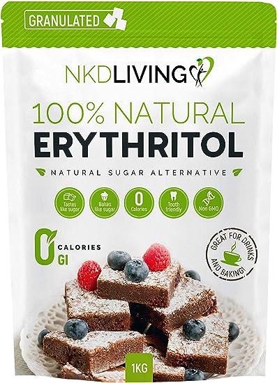 Eritritolo 100% naturale 1 kg granulato   sostituto dello zucchero a zero calorie B01BDTLL7W