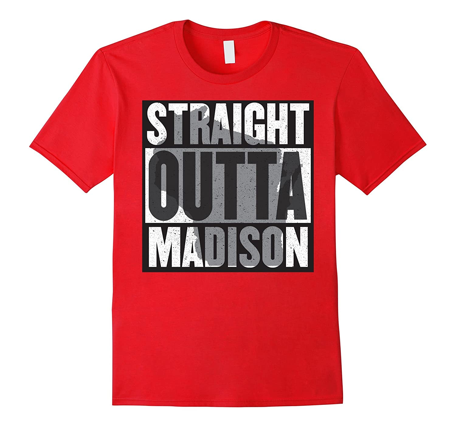 """""""Straight outta Madison"""" – most awesome Wisco t-shirt"""