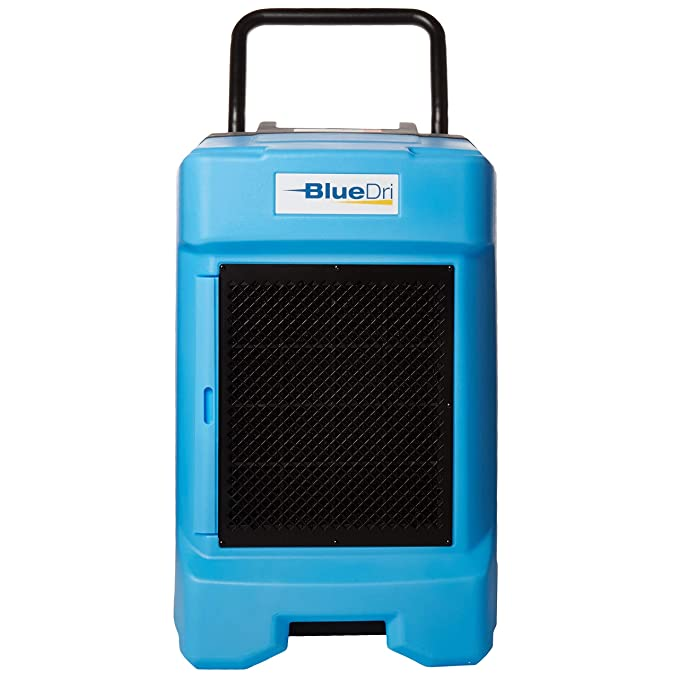 BlueDri BD-130P 225PPD Industrial Commercial Dehumidifier with Hose for Basements in Homes and Job Sites, Blue