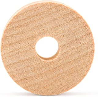 product image for Wooden Craft Toy Slab Wheels 1.5 x 1/2 Inch- W/1/4 Inch Axle Hole-50 Pack by Woodpeckers