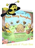 Plush Bee and Book About Bees and How Honey is Made Five Bizzy Honey Bees