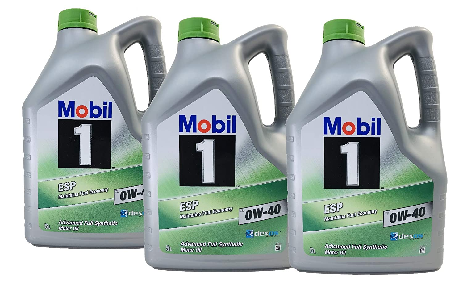 Mobil 1 Aceite Lubricante Motor ESP X3 0W-40 dexos 2, Pack 15 ...