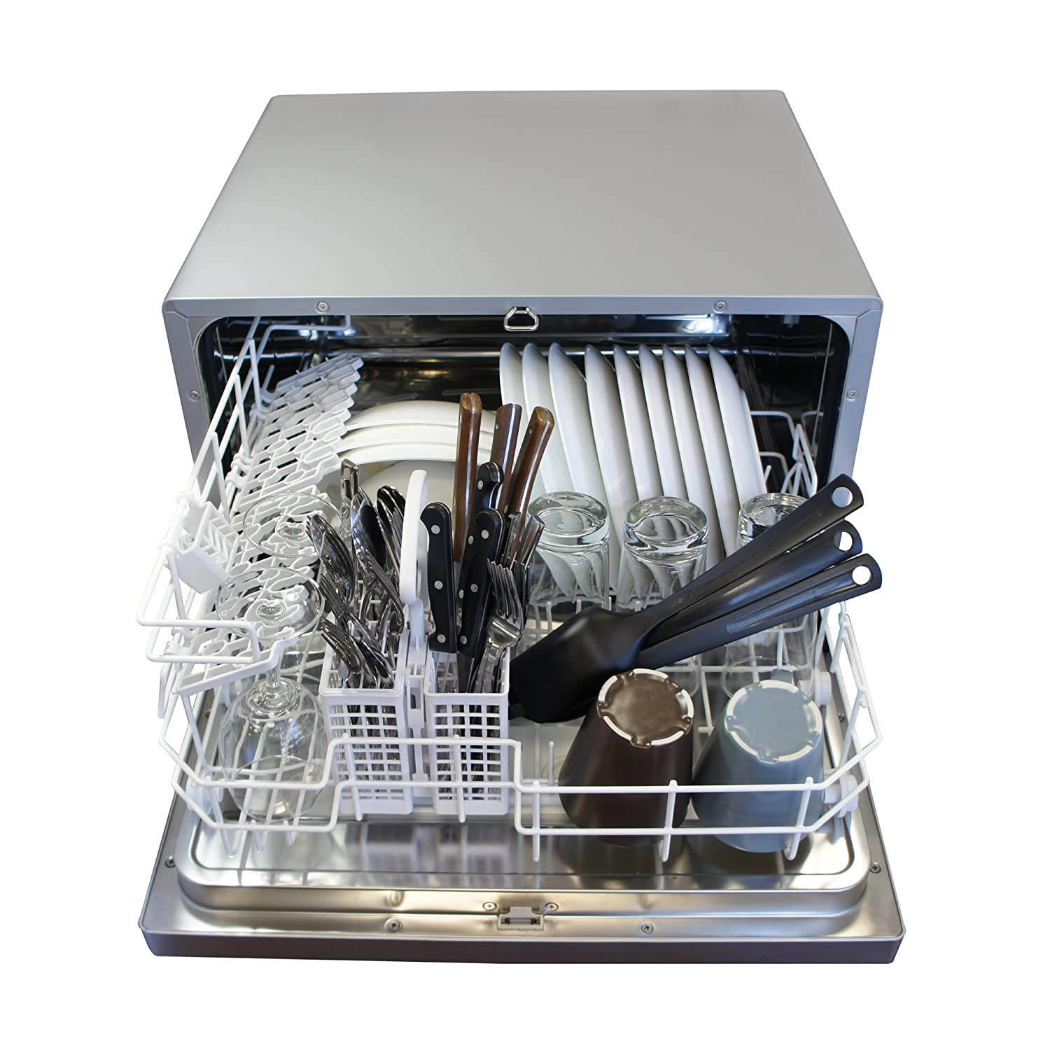 Amazon.com: SPT SD 2202S Countertop Dishwasher With Delay Start, Silver:  Appliances