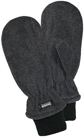 5d7b9d497368bf Harrys-Collection Fleece Fäustling mit Thinsulate, Farben:dunkelgrau,  Handschuhgröße:Damen