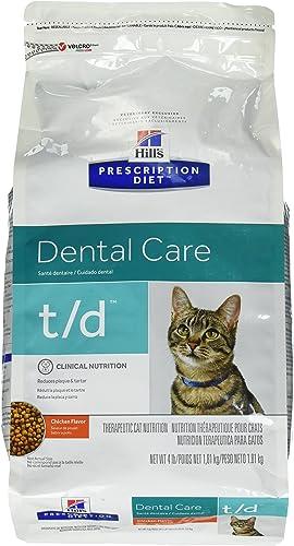 Hills Diet t d Feline Dental Health Cat Food 4lb Bag