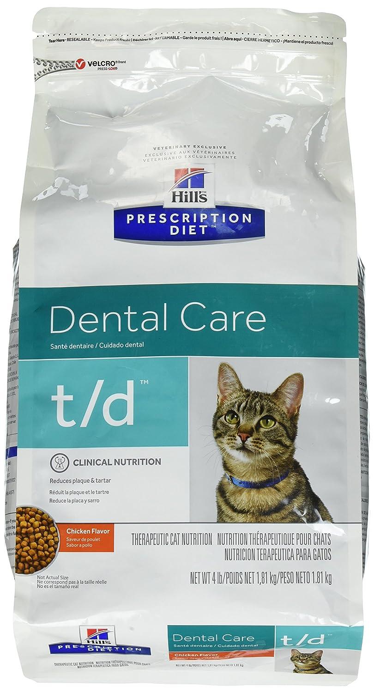 Hills Diet t/d Feline Dental Health Cat Food 4lb Bag