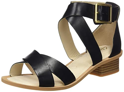 57595fd42e5aa8 Clarks Women s Sandcastle Ray Black Leather Fashion Sandals - 3.5 UK India  (36 EU