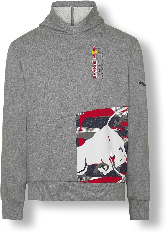 Red Bull Racing Double Bull Hoodie Gris Herren Small Kapuzenpullover Racing Aston Martin Formula 1 Team Original Bekleidung Merchandise Bekleidung