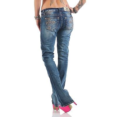 Miss Me - Jeans - Bootcut - Femme bleu bleu