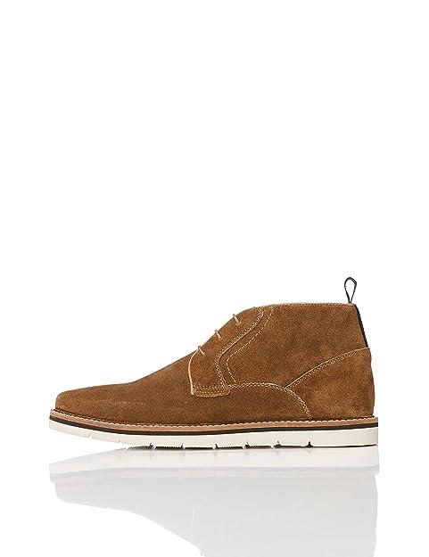 Find Zapatos de Cuero con Cordones para Hombre, Marrón (Tan), 47 EU
