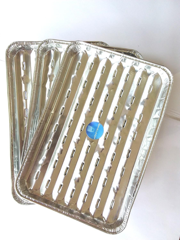 Shieldup Aluminium Foil plateaux de grille pour barbecue | Lot de 3