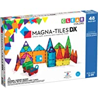 Magna-Tiles 48-Piece Clear Colors DELUXE Set – The Original, Award-Winning Magnetic Building Tiles – Creativity and…