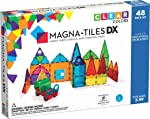 Magna-Tiles 48-Piece Clear Colors DELUXE Set, The Original, Award-Winning Magnetic Building