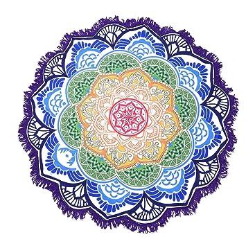 hjuns - Juego elegante Mandala tapiz redondo esterilla de ...
