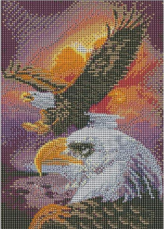 VS2# 5D DIY Full Drill Diamond Painting Animal Embroidery Mosaic Craft Kit Decor