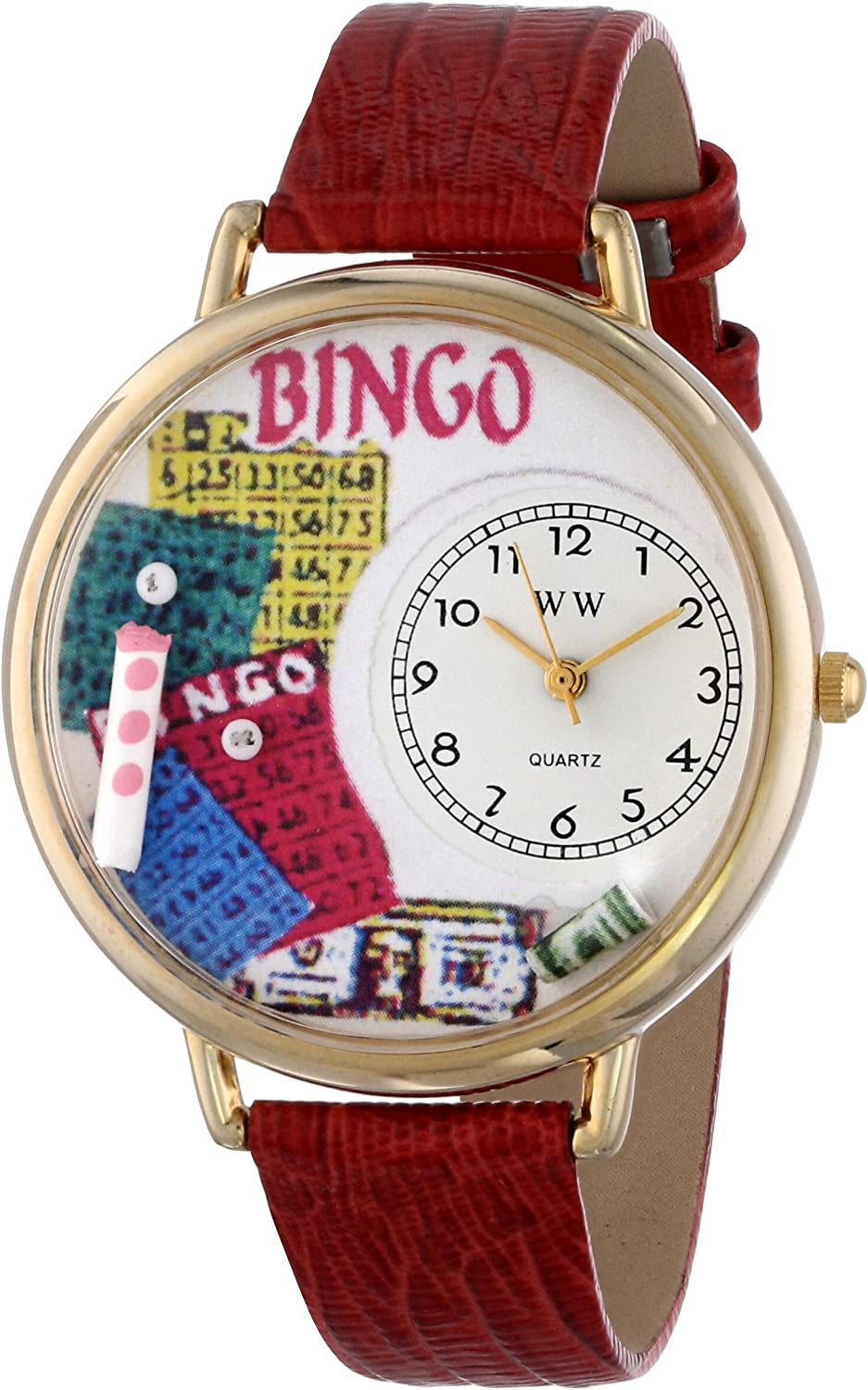 Whimsical Watches Unisex G0430007 Bingo Red Leather Watch