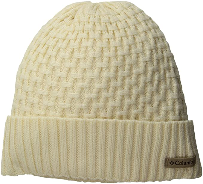 3142b2562 Columbia Hideaway Haven Cabled Beanie, Light Bisque, One Size at ...