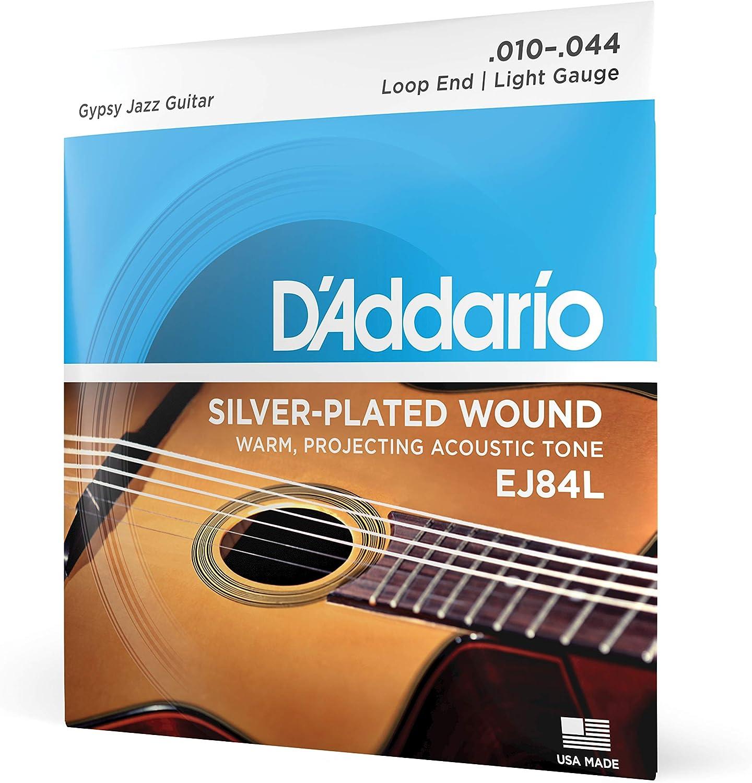 D'Addario EJ84L - Juego de cuerdas para guitarra acústica.010 - .044 (extremo de lazo)