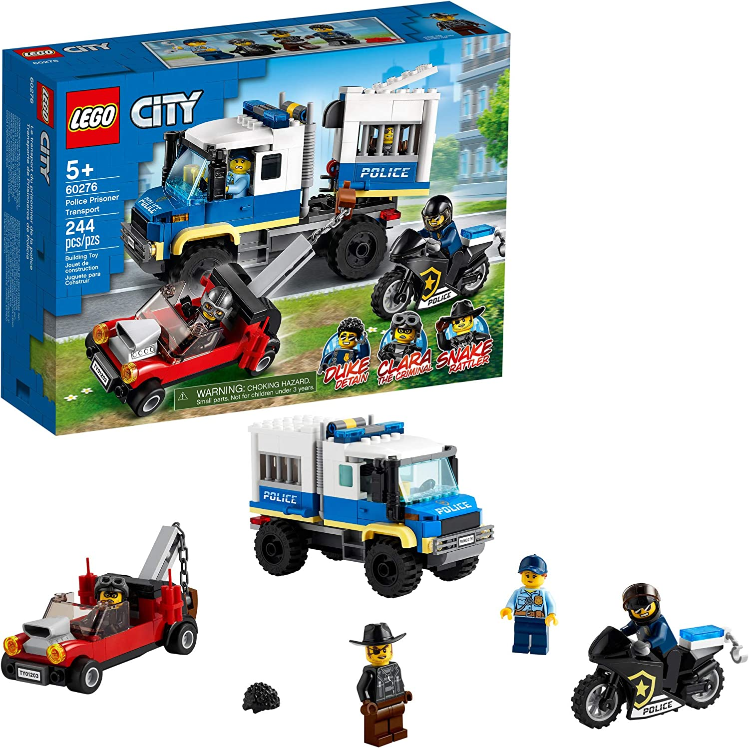 LEGO City Police Prisoner Transport 60276 Building Kit; Cool Police Toy for Kids, New 2021 (244 Pieces)