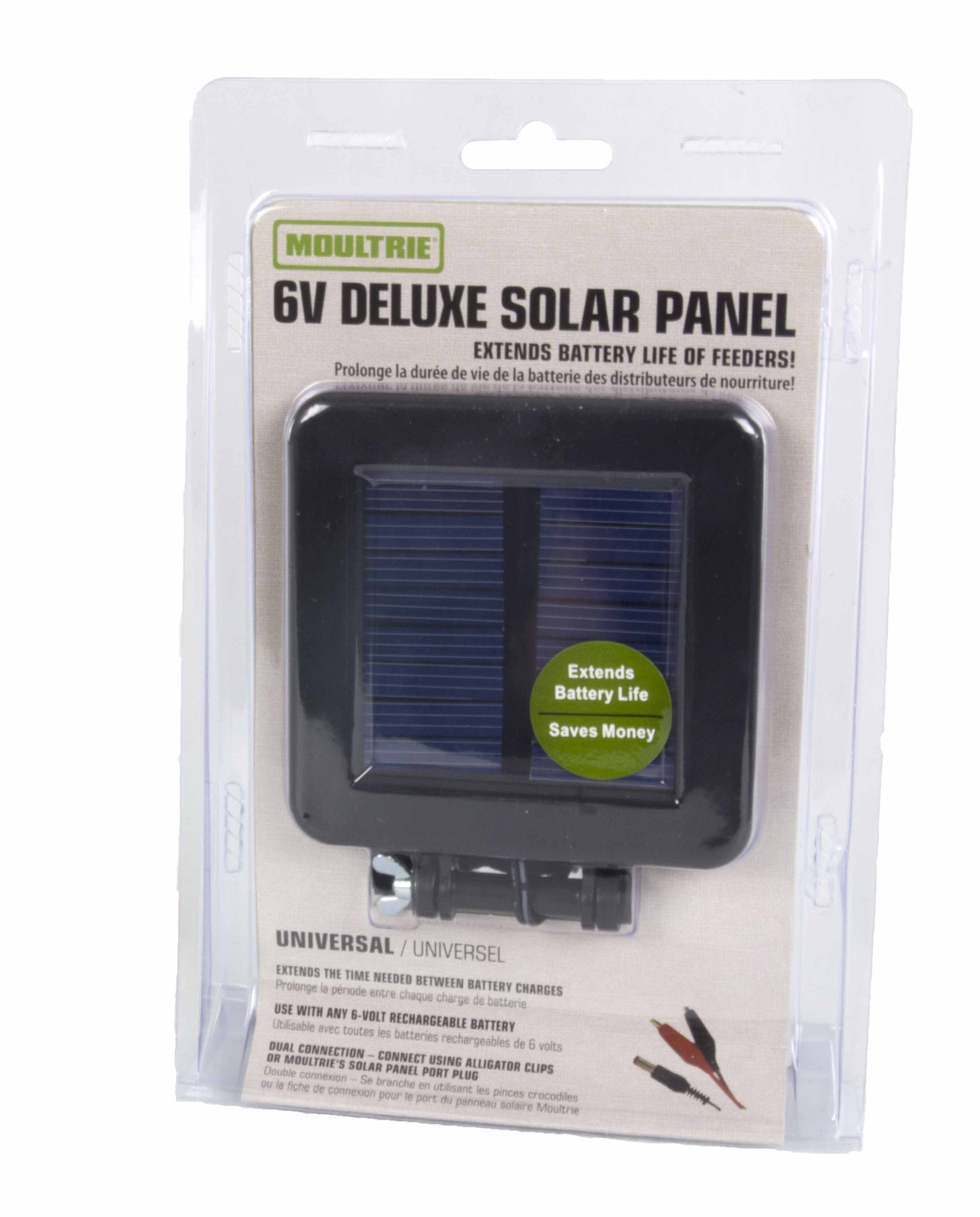 (4) MOULTRIE Game Camera 6 Volt Deluxe Solar Power Panels w/ Mounting Bracket by Moultrie