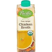 Pacific Foods Organic Free Range Chicken Broth Single Serve, 4 x 240ml