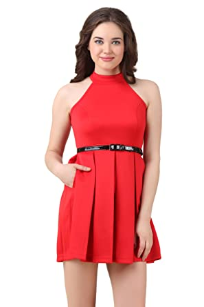 TEXCO Fit and Flare Skater Dress