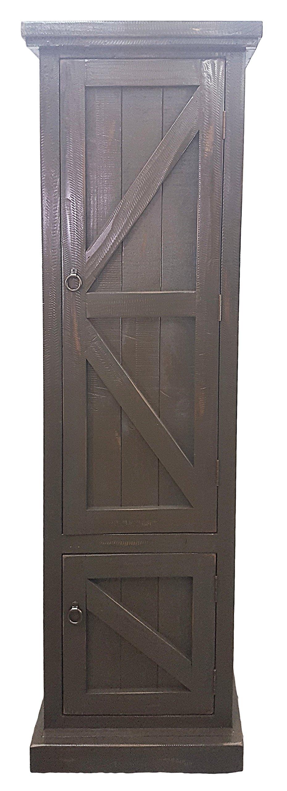 American Heartland #30789RDB Rustic Single Door Pantry, Rustic Dark Blue