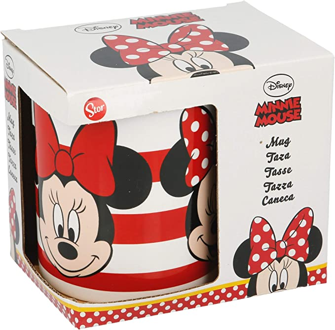 TAZA CERAMICA 325 ML CON CAJA | MINNIE MOUSE - DISNEY - STRIPES ...