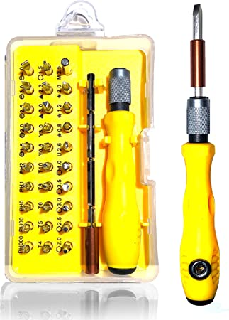 for camera//toy//PC//laptop//watch//iPhone//etc equipped with T6 T8 T10 star magnetic screwdriver; flat-blade screwdriver Phillips screwdriver Buspoll Torx screwdriver repair kit
