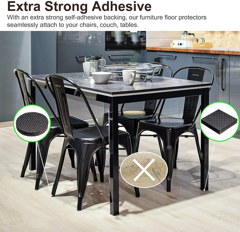casquillo de muebles para patas de muebles tapas protectoras para el suelo punta final 16 /– 50 mm de di/ámetro interior Protector de goma para el suelo de la silla 4 piezas antiara/ñazos