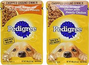 Pedigree Chice Cuts In Gravy 8 Pouch Variety Grilled Chicken Flavor In Sauce, 4-Filet Mignon Flavor In Gravy, 4 Piece