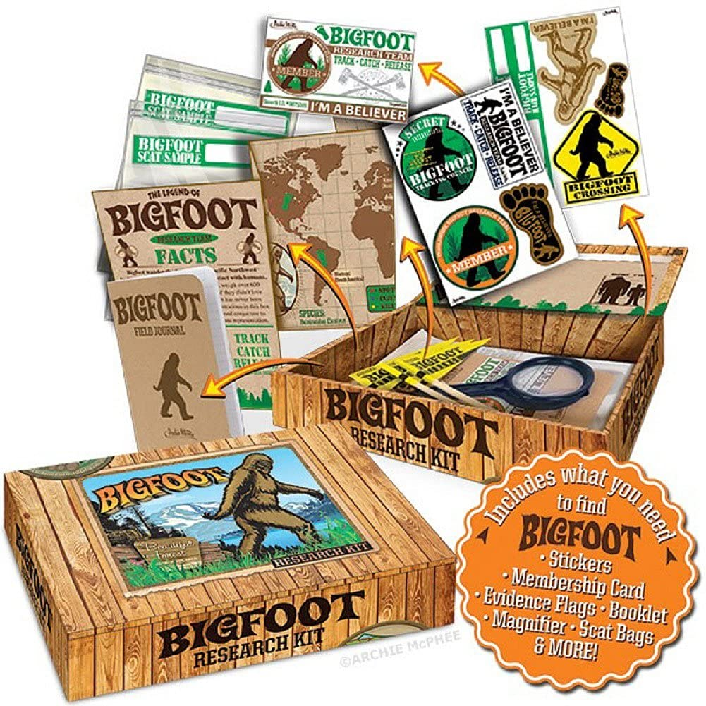 "Archie McPhee Accoutrements Bigfoot Sasquatch Outdoor Research Kit Novelty Gift, Multicolored, 7"" x 5"" x 1-1/2"""