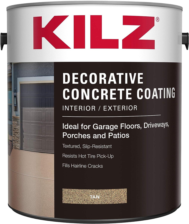KILZ L378601 Interior/Exterior Slip-Resistant Decorative Concrete Paint
