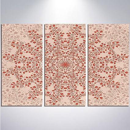 8d642198f8a3 Amazon.com: iPrint Home Decor Canvas Wall Art - Red Mandala - 12